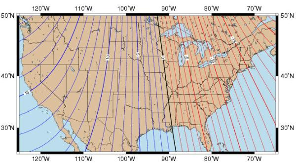 Some Guidelines For Effective Fielduse Of The GPS Unit - Magnetic declination map us